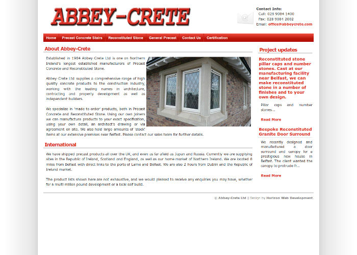 Abbey Crete Precast Concrete Northern Ireland