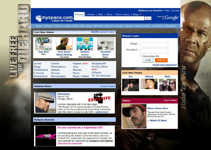 Myspace in 2007
