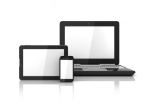 A Laptop, Phione and Tablet computer